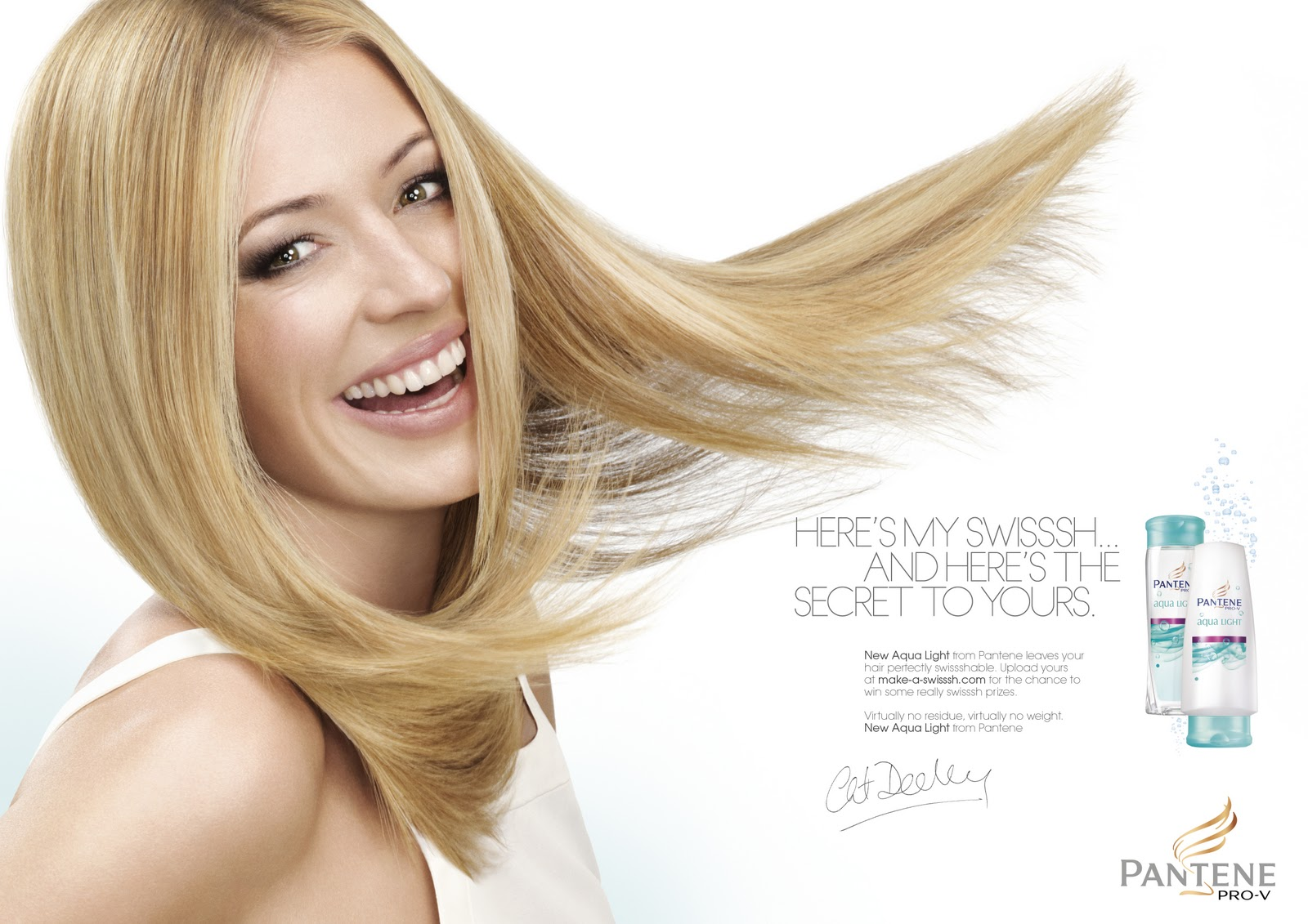 Cat Deeley For Pantene Orme Square